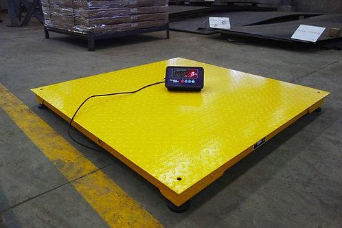 Heavy Duty 5' x 5' Industrial Floor Scale / Pallet Size 10,000 x 1 lb- Free ship