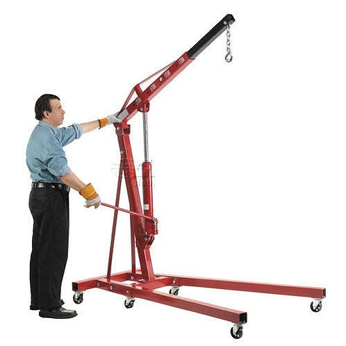 Global Industrial Folding Floor Crane with Telescopic Boom 4000 Lb. Capacity