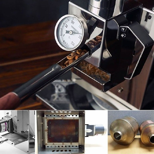 [Kaldi] Wide Coffee Bean Roaster Full Set Motor Operated for  small cafe