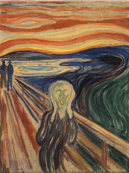 Canvas Art Print The Scream by Edvard Munch