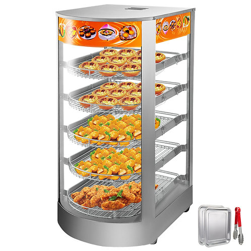 "Hot food display warmer - 14"" - 5 levels -"