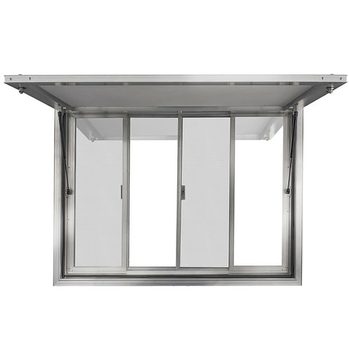 Concession Stand Trailer Serving Window & Awning With or Without Support Bar