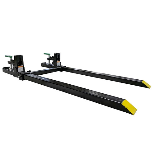 "CLAMP ON PALLET FORKS 60"" TOTAL TITAN W/ ADJUSTABLE STABILIZER BAR 1500 LBS. MAX"