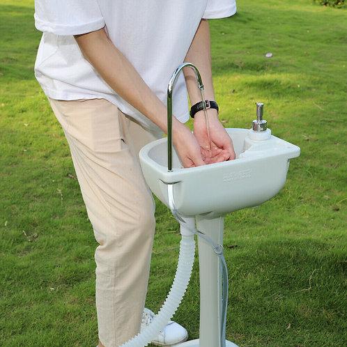 Portable hand wash basin - foot pump faucet - 19 litre tank