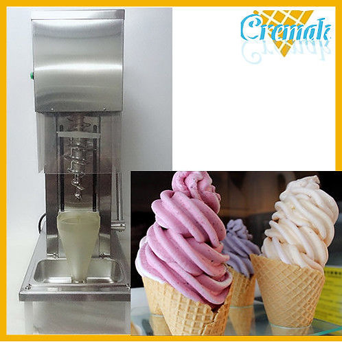 Swirl freeze fruit ice cream blending machine with 3pcs cones