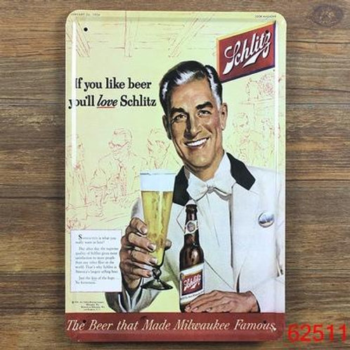 Beer Ad B-4 Retro Metal Tin Sign