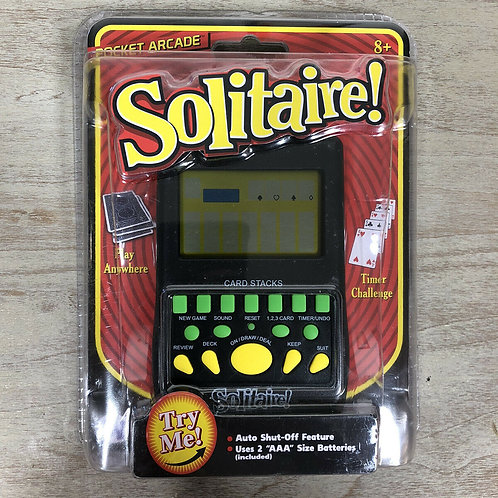 Solitaire Pocket Arcade Handheld Travel Video Game