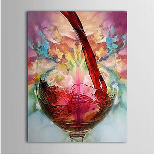 Wine cup still life painting