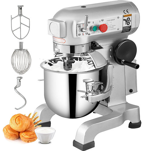 10Qt Electric Food Stand Mixer Dough Mixer Stainless Steel Mixer