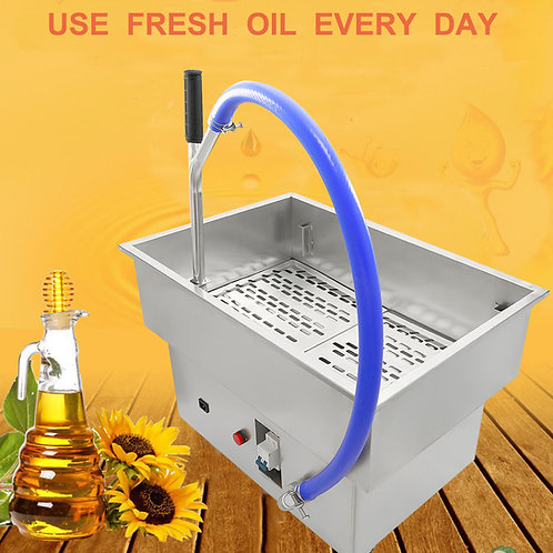 NEW Kitchen Mobile Commercial Oil Filter System 40L Fryer Oil Filter Machine
