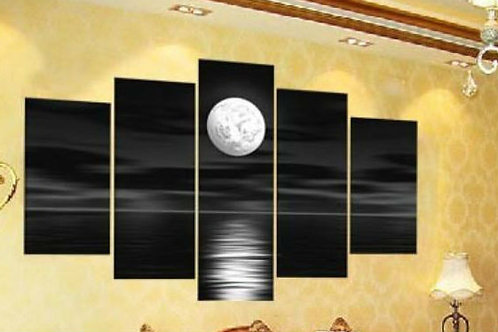 Black Moon Oil Canvas Painting