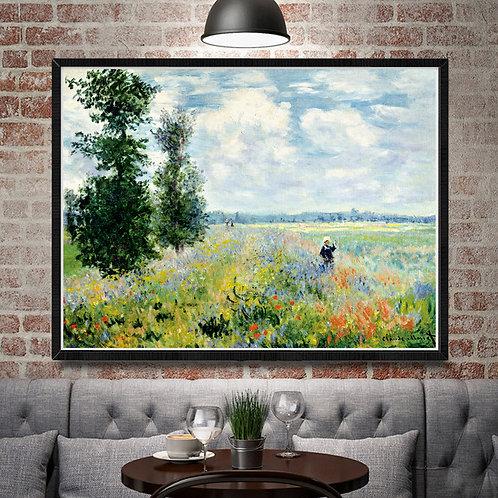 France Claude Monet Artwork Papaver Nudicaule Art Silk Poster Decor Painting