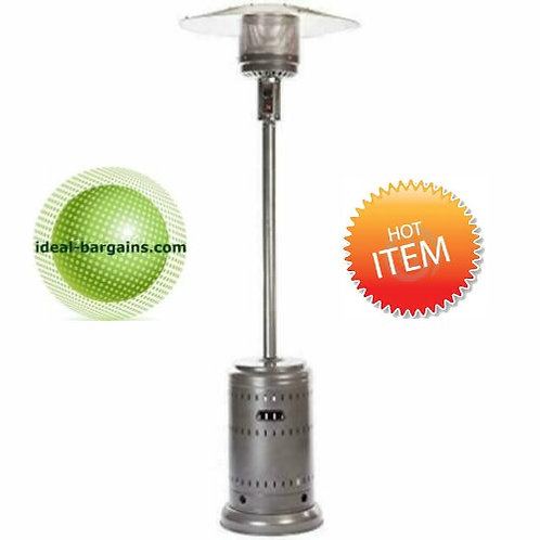 Outdoor patio heater with wheels -