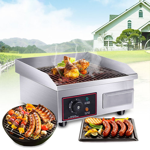 1500W Electric Countertop Griddle Commercial Restaurant Flat Top Grill BBQ 14""