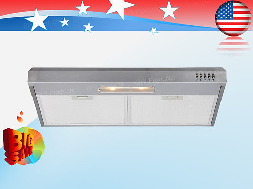 "30"" Under-Cabinet-Stainless-Steel-Range-Hood-Stove-Vents-Lights-Cooking"