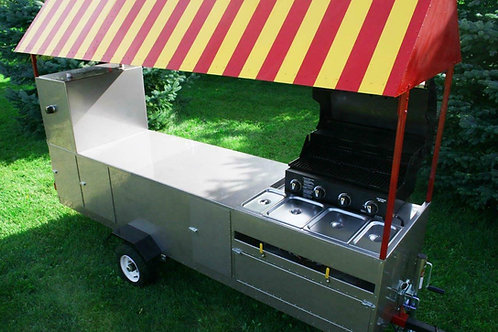 Hot dog cart extra  stretched body style -