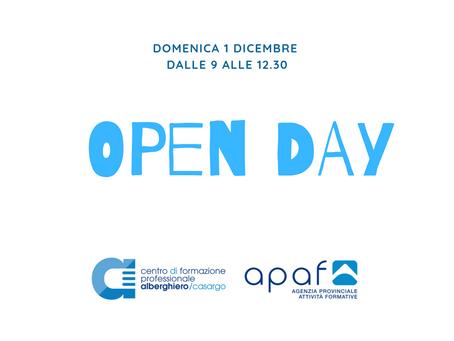 Pregusta il tuo futuro: il 1 dicembre partecipa all'OpenDay!