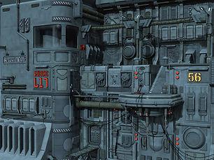 Futuristisches Raumschiff Deck