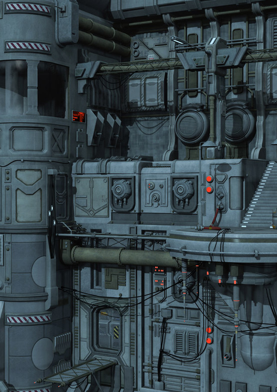 Futuristic Spaceship Deck