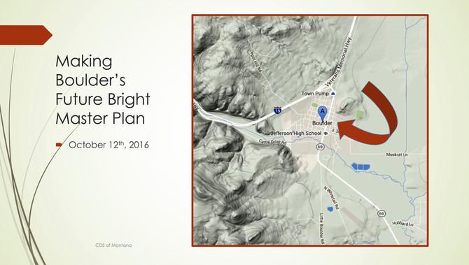 Boulder Master Plan Overview - A Draft