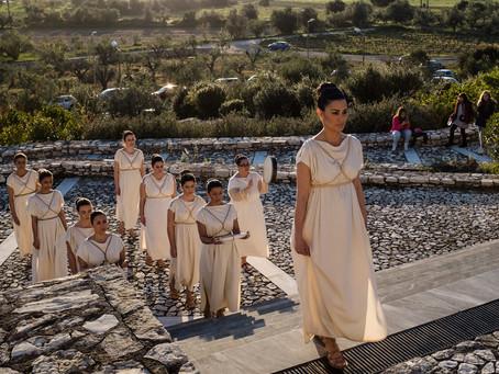 Συμμετοχή  στην τελετή έναρξης του 2ου Μαραθωνίου Ολυμπίας