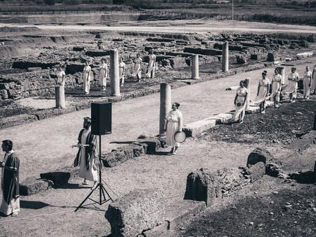 Συμμετοχή  στην Τελετή Αφής Ολυμπιακής Φλόγας στην Αρχαία Ήλιδα