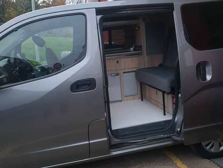 Compact conversion on an NV200. A lot of van in a very small space!
