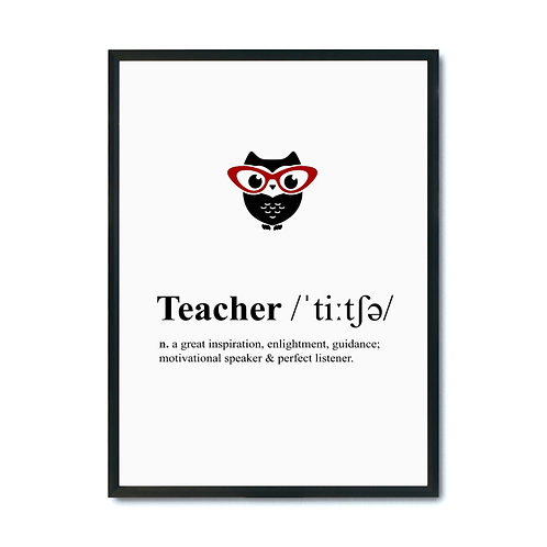 "Plakat ""Teacher Definition"" plik pdf"