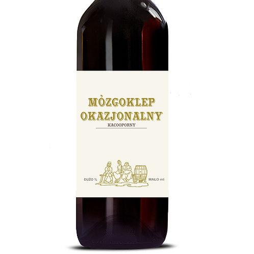 Etykieta na wino Mózgoklep Okazjonalny Kacooporny