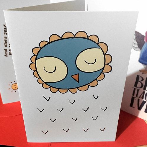 "Kartka personalizowana A5 ""Thank You for OWL you do"""