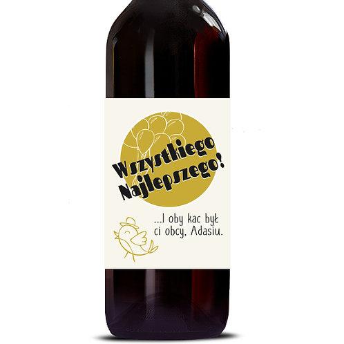 Etykieta na wino personalizowana urodzinowa