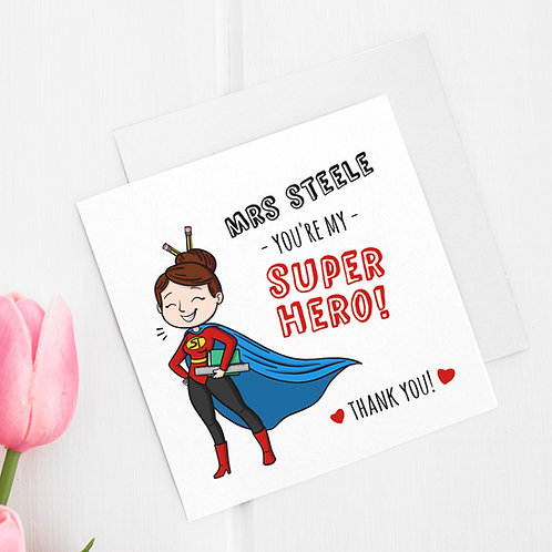 """Kartka personalizowana kwadratowa """"You're my Superhero"""""""