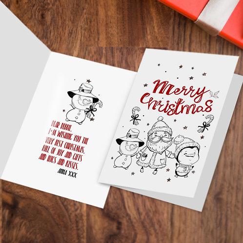 """Kartka świąteczna A5 """"Merry Christmas"""""""