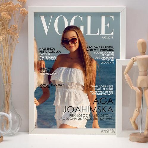 """Plakat A4 urodzinowy dla solenizanta """"VOGLE"""" Druk"""