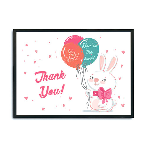 """Plakat personalizowany """"Thank You You're the Best"""" Druk"""