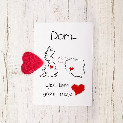 """Personalizowany plakat magnetyczny """"Dom jest tam, gdzie moje serce"""""""