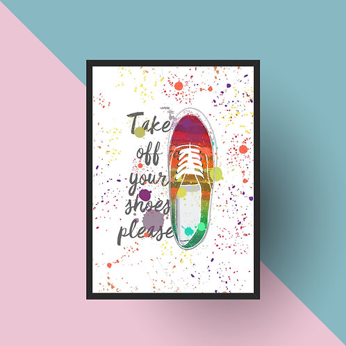 "Plakat ""Take off your shoes"" Druk"