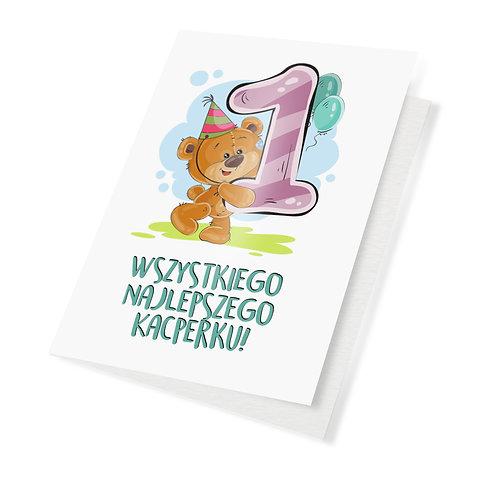 Kartka urodzinowa A5 personalizowana dla dzieci