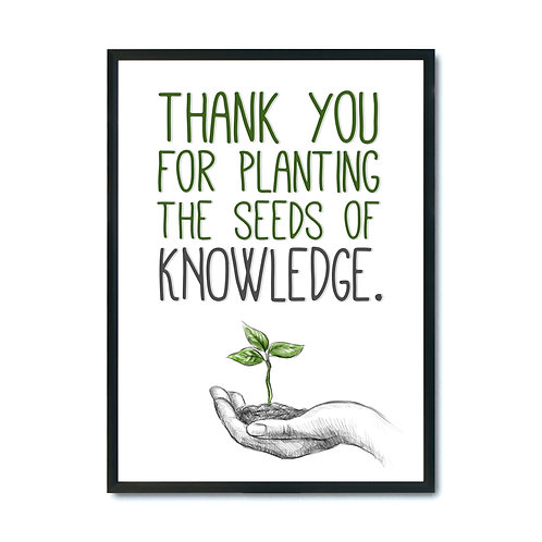 """Plakat """"Planting the seeds of knowledge"""" pdf"""