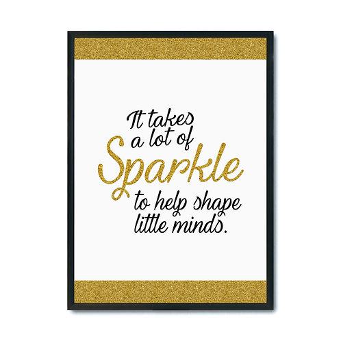 "Plakat ""It takes a sparkle to help shape"" plik pdf"