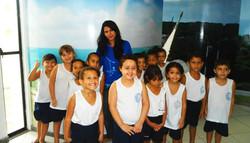 Crianças visitam Base de Lançamentos