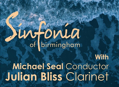 Copland Clarinet Concerto, Sinfonia of Birmingham