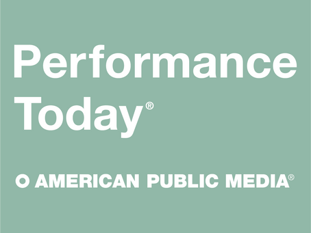 Performance with Bradley Moore to be featured on Performance Today!