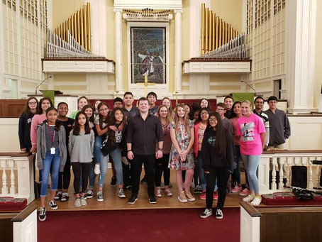 Julian Visits Schools in Texas with Conn-Selmer