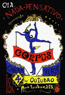 CORPUS Cartaz  2014 Sábado Pensativo I Santa Cia. e Verve Galeria