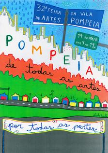 32ª FEIRA DE ARTES DA VILA POMPEIA Cartaz  2019 Centro Cultural Pompeia