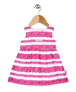 Kids Sleeveless Embroidery Design Frock