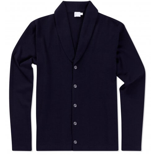 Mens Vintage Wool Shawl Neck Cardigan