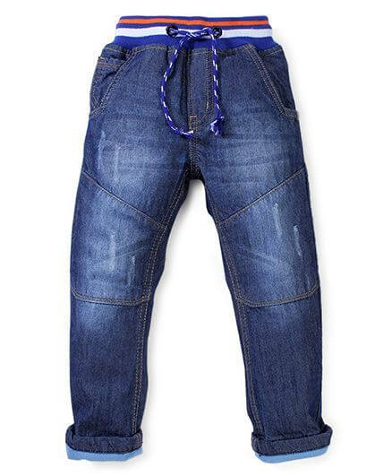 Kids Full Length Jeans With Drawstring