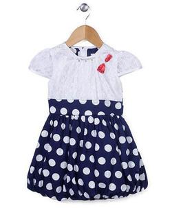 Kids Cap Sleeves Frock Polka Dots